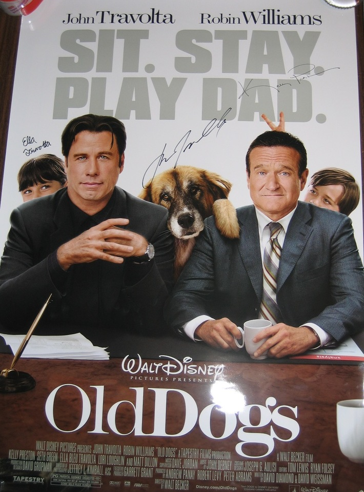 Old Dogs Signed DS Movie Poster