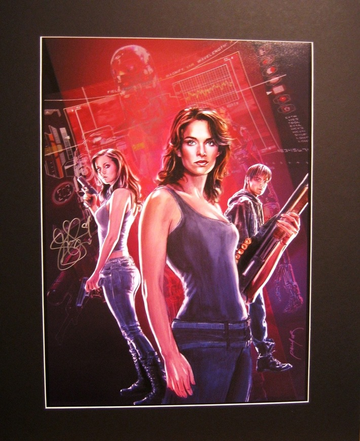 Sarah Connors Chronicles Signed Print
