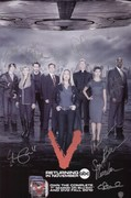 V Mini Poster Cast Signed SDCC 2010