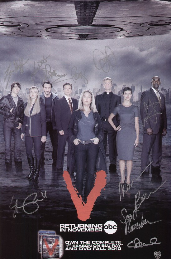 V Mini Poster Cast Signed SDCC 2010