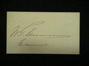 william sherman back signed