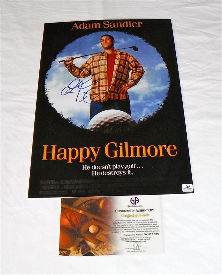 "Adam Sandler ""Happy Gilmore"" Signed Poster: GA COA-RightCoastCollectibles"