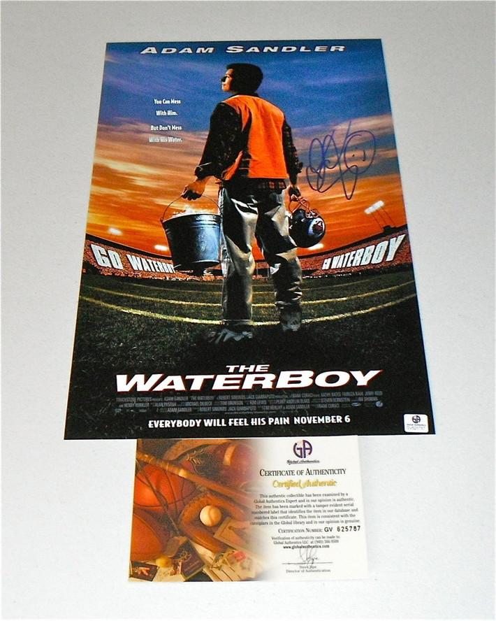 "Adam Sandler ""The Water Boy"" Signed Poster: GA COA-RightCoastCollectibles"
