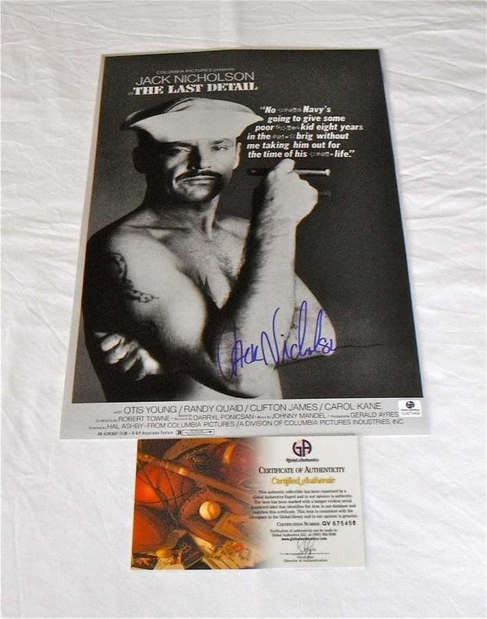"""Jack Nicholson """"The Last Detail"""" Signed Poster: GA COA-RightCoastCollectibles"""