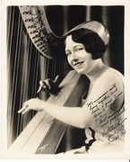 Photo 8X10 Ruth Hutchins harpist the Brick Tops