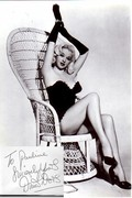 Diana Dors autograph made out to myself