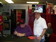 Pete Rose & Greg Jeranek Signing of Giamatti, Uberoff Ball