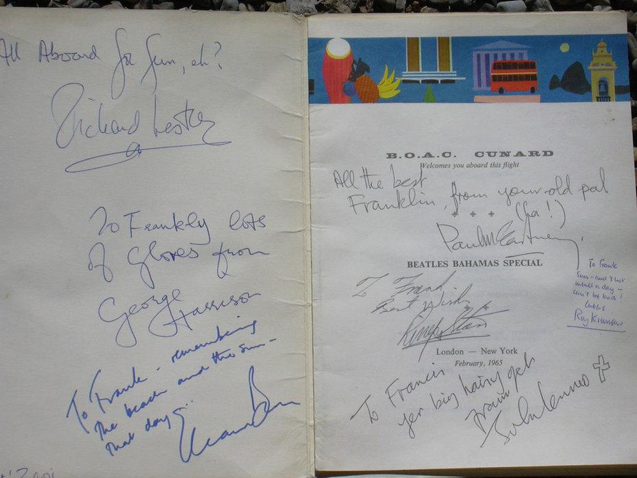 Genuine Beatles Autographs Signed February 1965