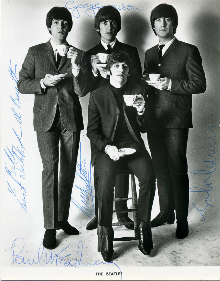 Genuine Beatles Autographed Photo Signed Aug 27, 1965