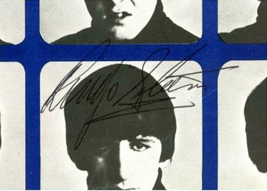 Genuine Ringo Starr Autograph Signed July 1964