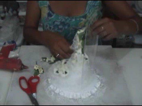 Tutorial Como hacer una adorno de torta para bodas