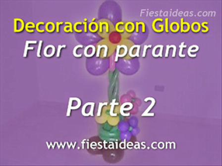 Curso de Decoración - Flor con Parante parte-2