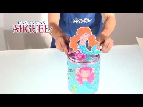 Como hacer un Bote con Sirenita