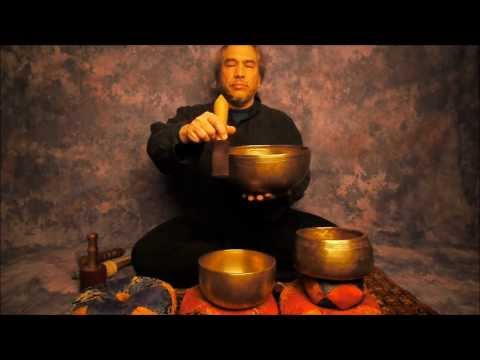 Chakra Meditation Series 7th Chakra/Sahasrara using B Note Singing Bowls in HD