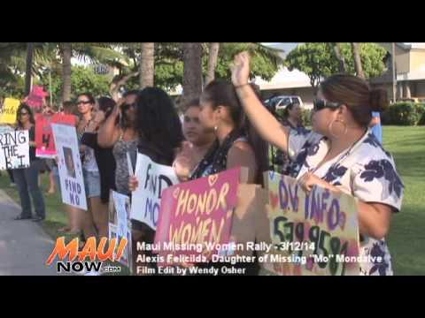 Maui Missing Women Rally - March 12, 2014 - Alexis Felicilda