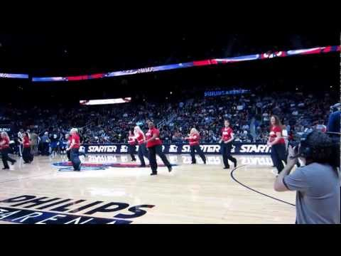 ATL Silver Classix Crew - Dances at Atlanta Hawks vs Mavericks