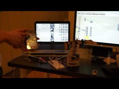 Home-made Robot Arm IPhone Controlled