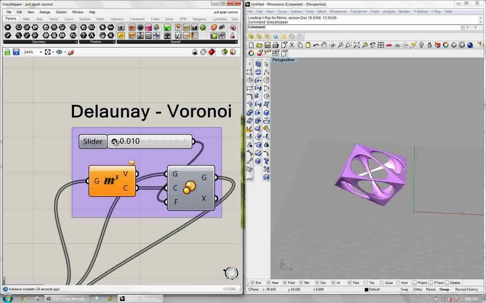Voronoi to Delaunay Blender