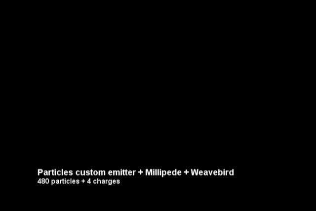 Custom particle emitter system + Millipede + Weavebird