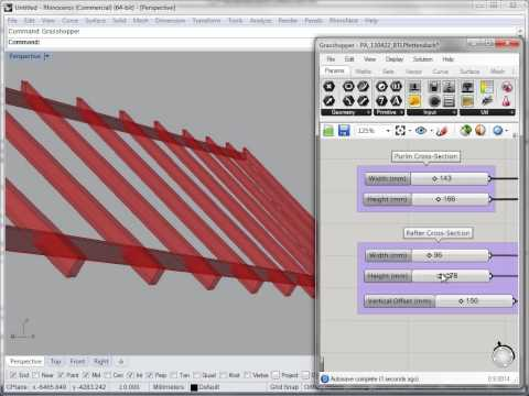 Woodpecker Use Case III: A parametric roof structure