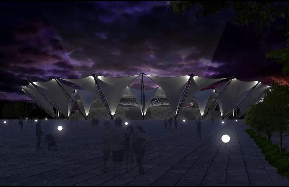 Azadi Stadium Responsive Roof Design