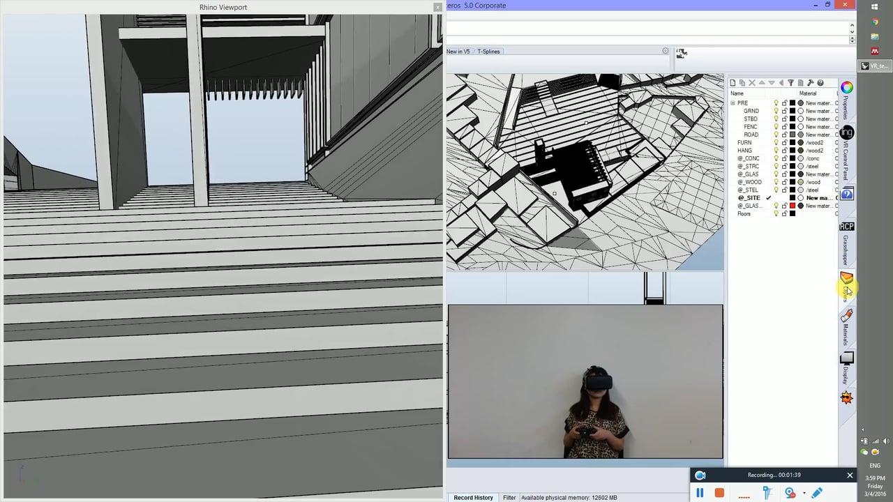 lingMatrix - A Rhino Plug-in for Intuitive/Immersive Design Experience, Rhino + Oculus DK2 + Myo + Xbox 360 Controller, Speech