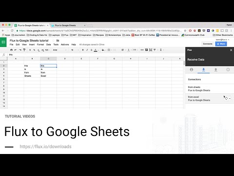 Flux Tutorials - Flux to Google Sheets