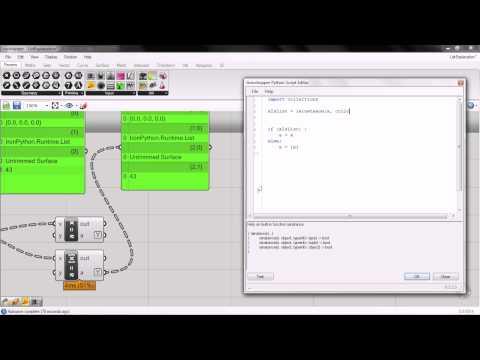 Grasshopper: List from Python Component
