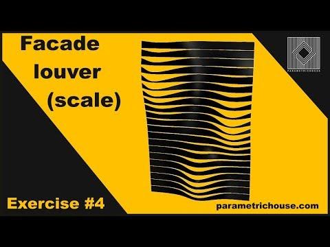 Grasshopper tutorial :  Facade Louver (scale)