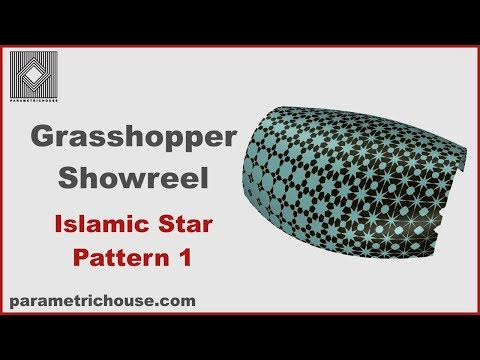 Grasshopper Showreel : Islamic Pattern 1