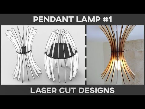 Laser Cut Pendant Lamp #1