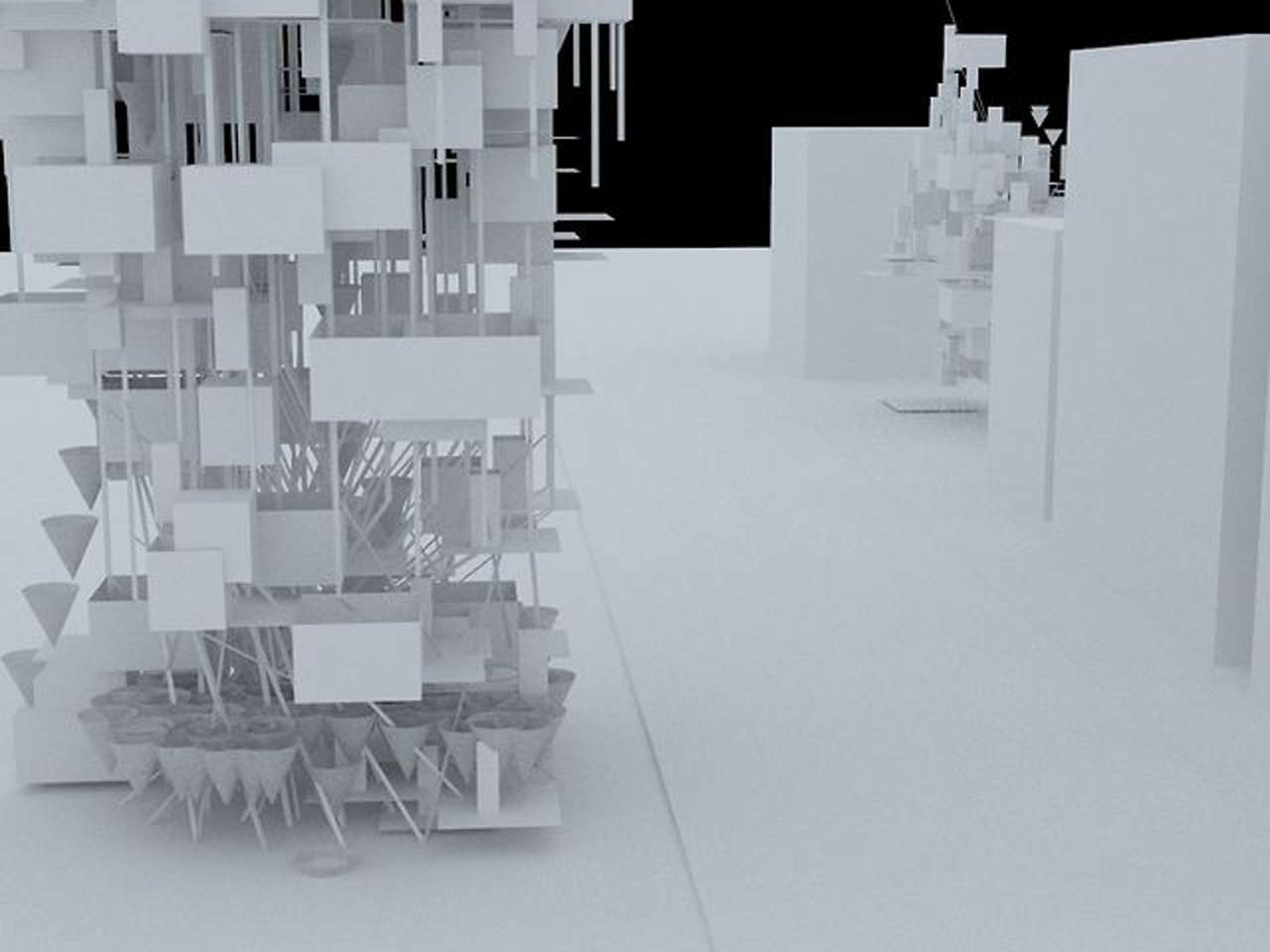 digital architecture (in Grasshopper, Rhino) - density housing, algorithm, programming