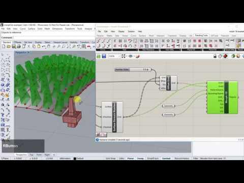 Rhino Grasshopper - Object Proliferation using Paneling Tools
