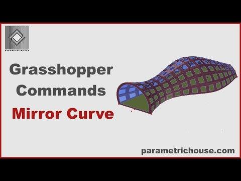 Grasshopper Tutorial : Commands - Mirror Curve