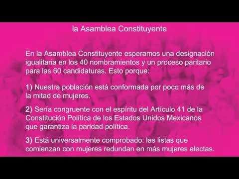 Queremos Paridad en la Asamblea Constituyente #CDMX