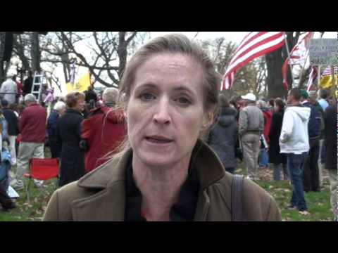 Lisa Miller at Red Alert Healthcare Rally - Tea Party WDC