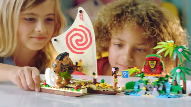 Megan Uesugi in Lego Disney-Moana Commercial