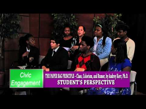Civic Engagement: Paper Bag Principle Student Forum