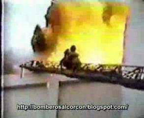 bombero quemado