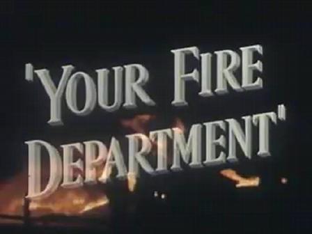 Departamento de Incendios de Los Angeles / Video de 1949 / Demostracion de tendido de linea