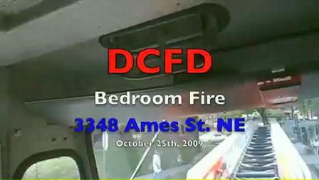 25 de Octubre de 2009 / Camara en casco / Trabajos de ventilacion en un techo / incendio estructural
