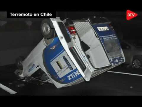 Terremoto Cae puente Miraflores en Vespucio Norte