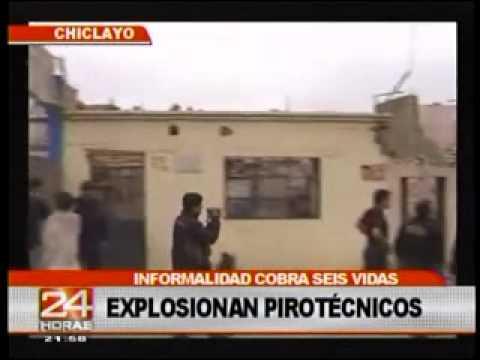 PERÚ: Explosión de taller clandestino de pirotécnicos deja 6 muertos