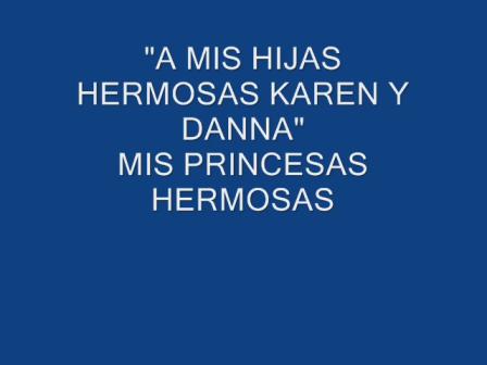 MIS PRINCESAS HERMOSAS