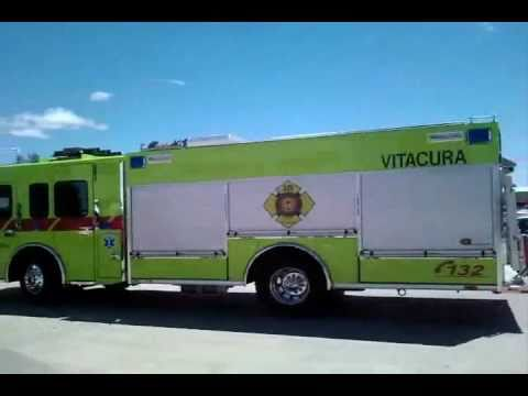 """Nueva bomba para la Decimoctava Compañía """"Vitacura"""" del Cuerpo de Bomberos de Santiago, Chile."""