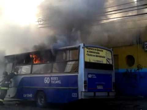 30 de Diciembre de 2011 / Bus se quema en Concepción / Chile