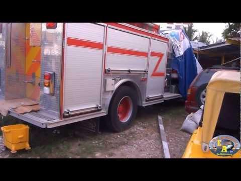Bomberos de San Andres solo cuenta con una maquina de extinción para atender emergencias / COLOMBIA