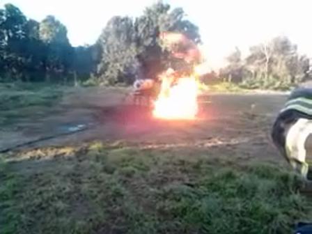 Simulador de Fuga de Gas / Reunion Escuela N°11 en la cuidad de Robert / Robert, Buenos Aires en Argentina