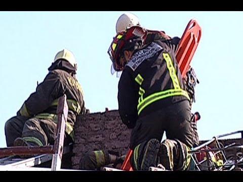 Ladron quedó atrapado en la chimenea - Chile