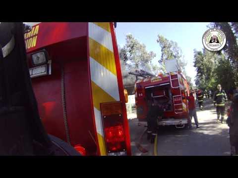 INCENDIO , CUERPO DE BOMBEROS LA GRANJA EN APOYO DEL CUERPO DE BOMBEROS DE ÑUÑOA / CHILE / Video Destacado de La Hermandad de Bomberos